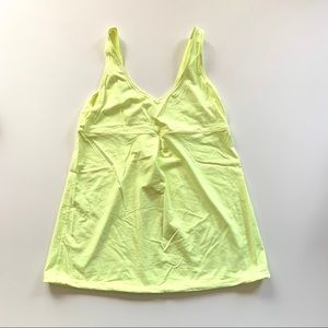 Lucy Neon Yellow Cinching V-neck Activewear Tank L